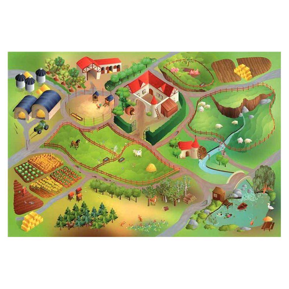 nappe de jeu la ferme 150x200 cm house of kids tapis de jeux sur planet eveil. Black Bedroom Furniture Sets. Home Design Ideas