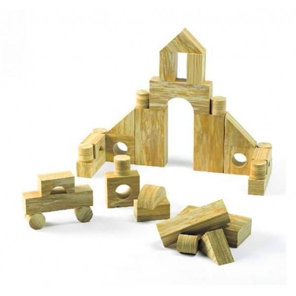 Jeu de construction imitation bois 68 pi ces edx for Construction bois 68