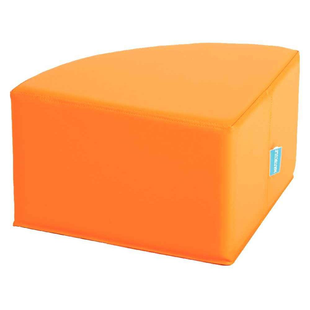 quart de rond orange poufs sur planet eveil. Black Bedroom Furniture Sets. Home Design Ideas