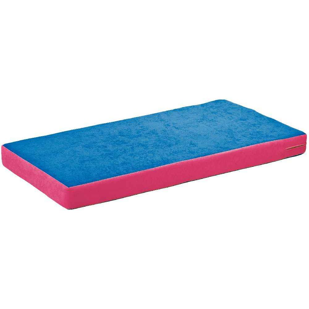 matelas en polyester bleu fonc et fuchsia nowa szkola matelas tapis de r ception sur. Black Bedroom Furniture Sets. Home Design Ideas