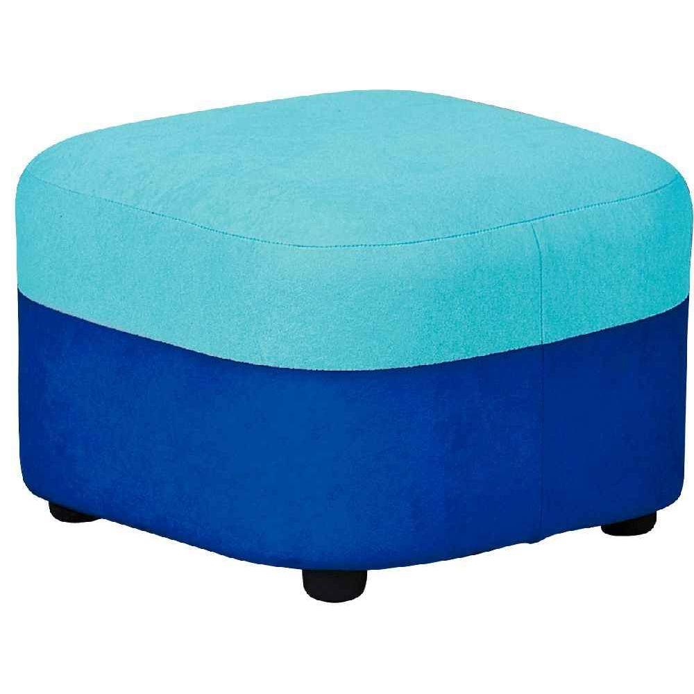 pouf g ant tissu bleu fonc et turquoise nowa szkola. Black Bedroom Furniture Sets. Home Design Ideas