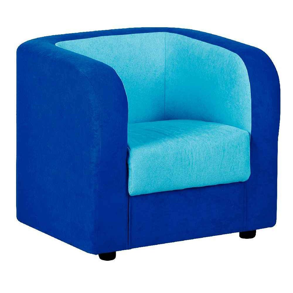 fauteuil tissu bleu fonc et turquoise nowa szkola fauteuils sur planet eveil. Black Bedroom Furniture Sets. Home Design Ideas