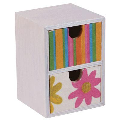 mini commode en bois 2 tiroirs d corer objets en bois sur planet eveil. Black Bedroom Furniture Sets. Home Design Ideas