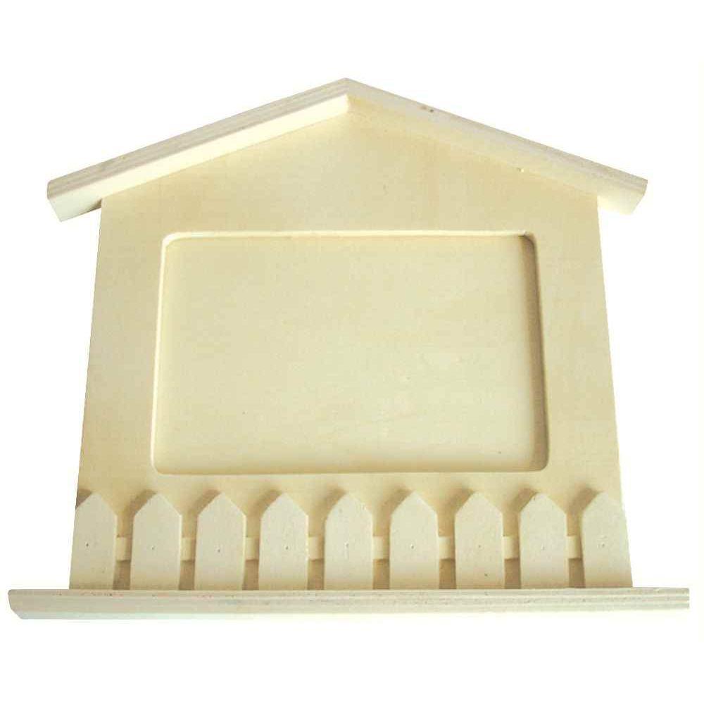 Cadre photo en bois à décorer  Forme de maison  La