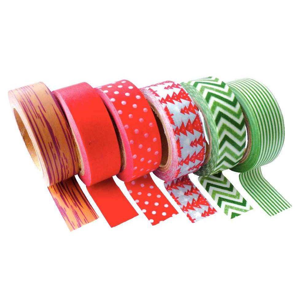 ruban adh sif masking tape no l assortis lot de 6 pw international cabochons sur planet. Black Bedroom Furniture Sets. Home Design Ideas