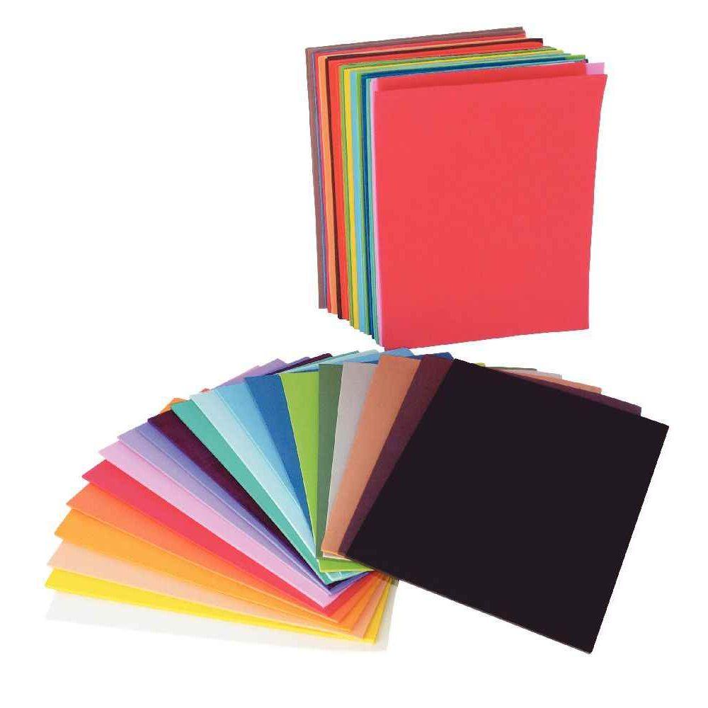 Plaques de caoutchouc A5 couleurs assorties - Sachet de 60