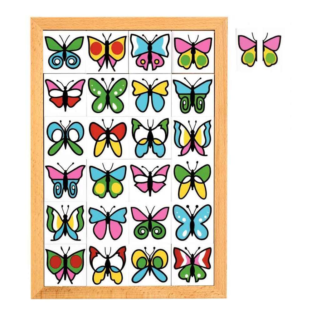 Coffret 24 moitiés papillons