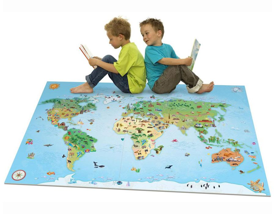 tapis de jeux g ant mappemonde house of kids tapis. Black Bedroom Furniture Sets. Home Design Ideas