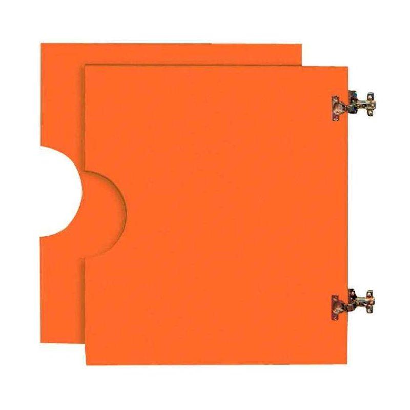 2 petites portes basses pour Armoire en bois orange