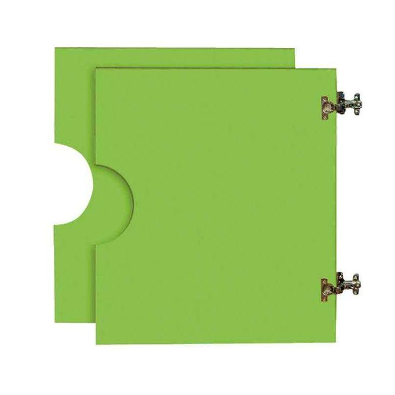 2 petites portes basses pour Armoire en bois verte