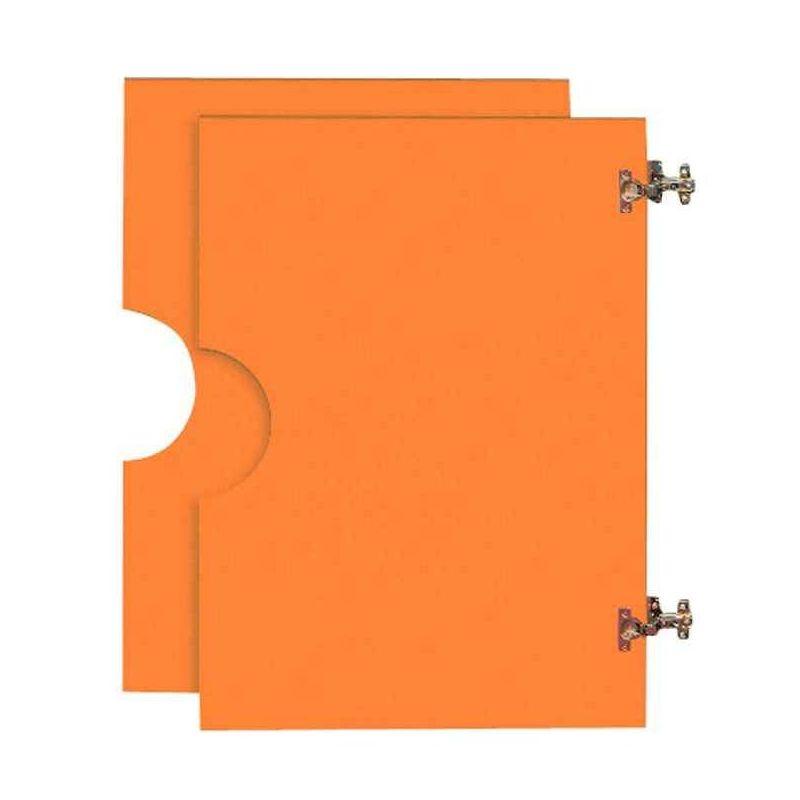 2 portes hautes en bois pour Armoire en bois orange
