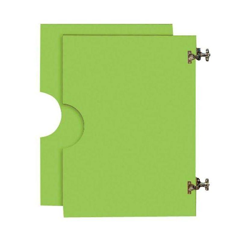 2 portes hautes en bois pour Armoire en bois verte