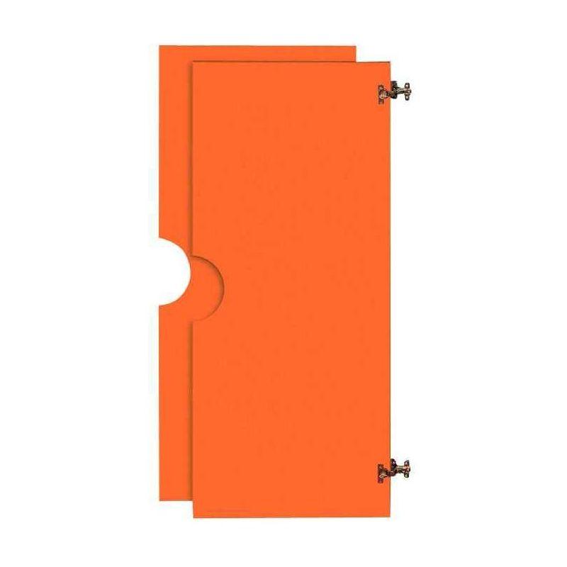 2 grandes portes 2/3 battantes pour Armoire en bois orange