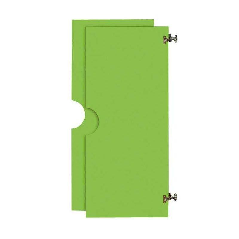 2 grandes portes 2/3 battantes pour Armoire en bois verte
