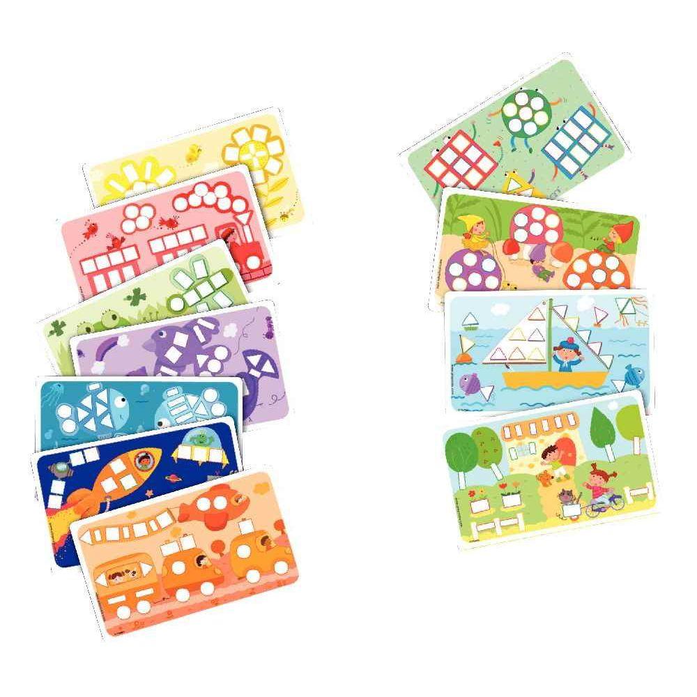 PlayMais Couleurs & Formes - Set de 14 cartes à décorer