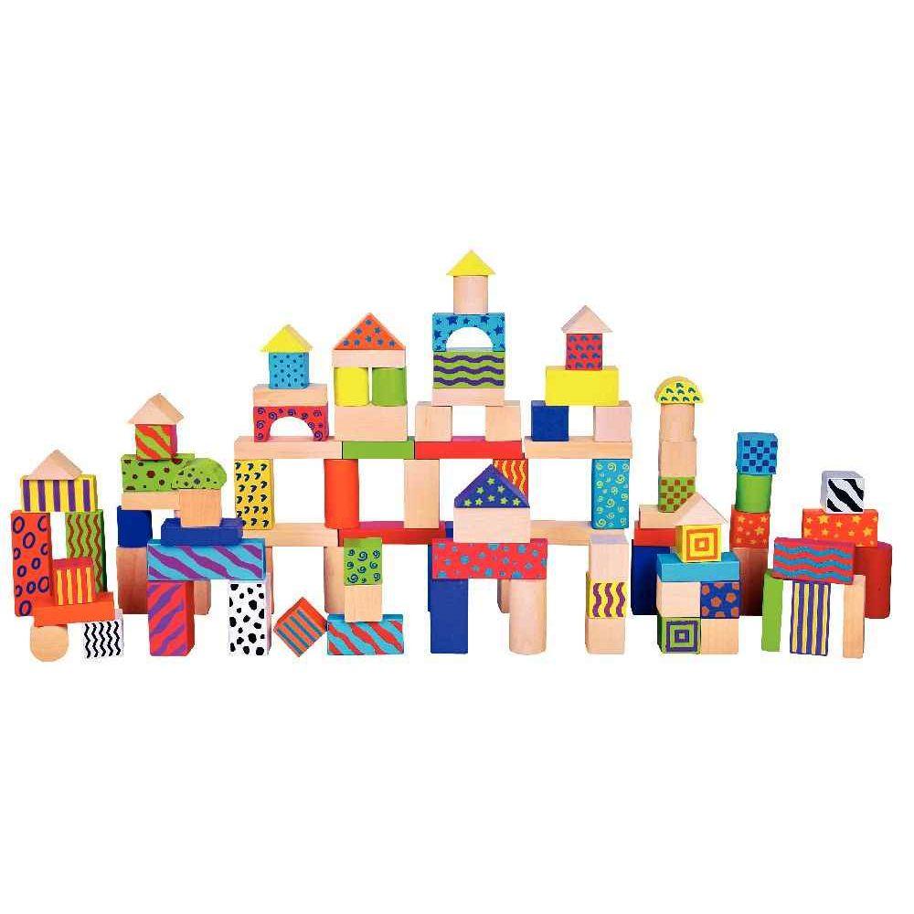 Blocs de construction en bois baril de 100 sapin malin jeux de construc - Video de jeux de construction ...