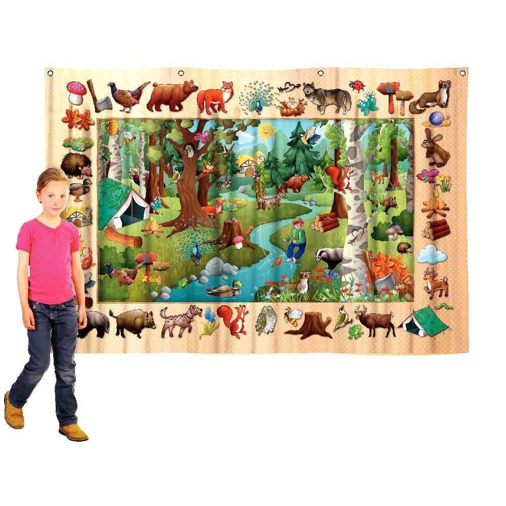 Poster textile 100x140cm la forêt
