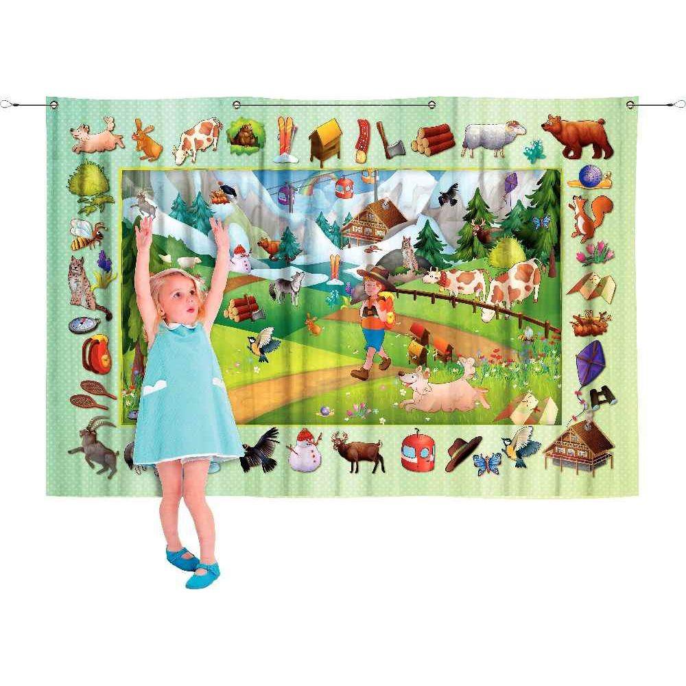 Poster textile 100x140cm la montagne
