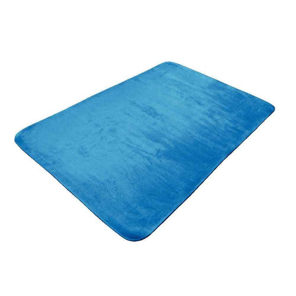 Tapis ultra soft 70x95 cm coloris bleu