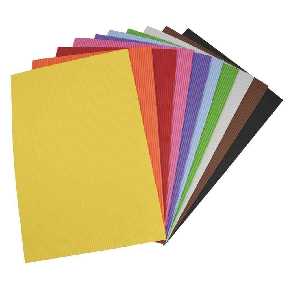 Feuilles de caoutchouc 21 x 27,5 cm effet ondulé, coloris assortis - Sachet de 10