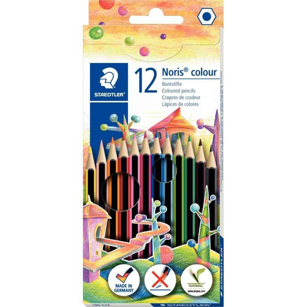 Etui de 12 crayons de couleur Noris colour 185 assortis