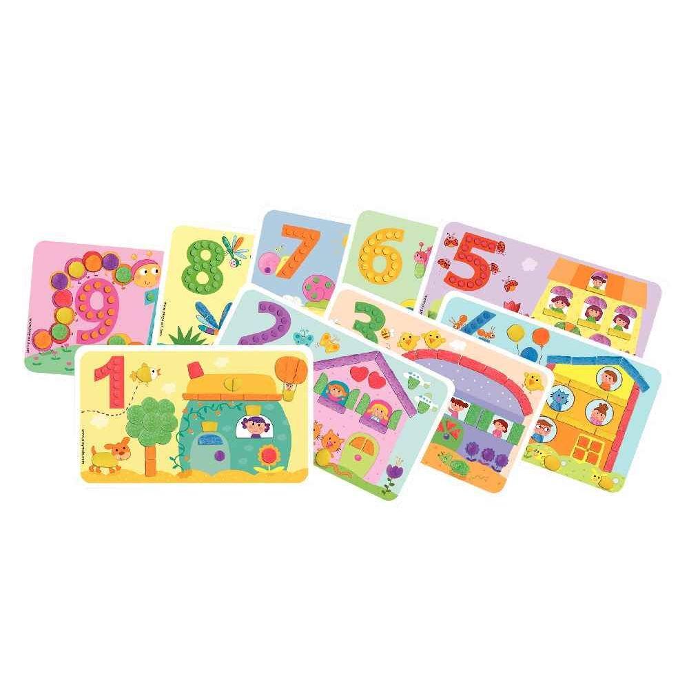 14 cartes PLAYMAIS Les Chiffres\