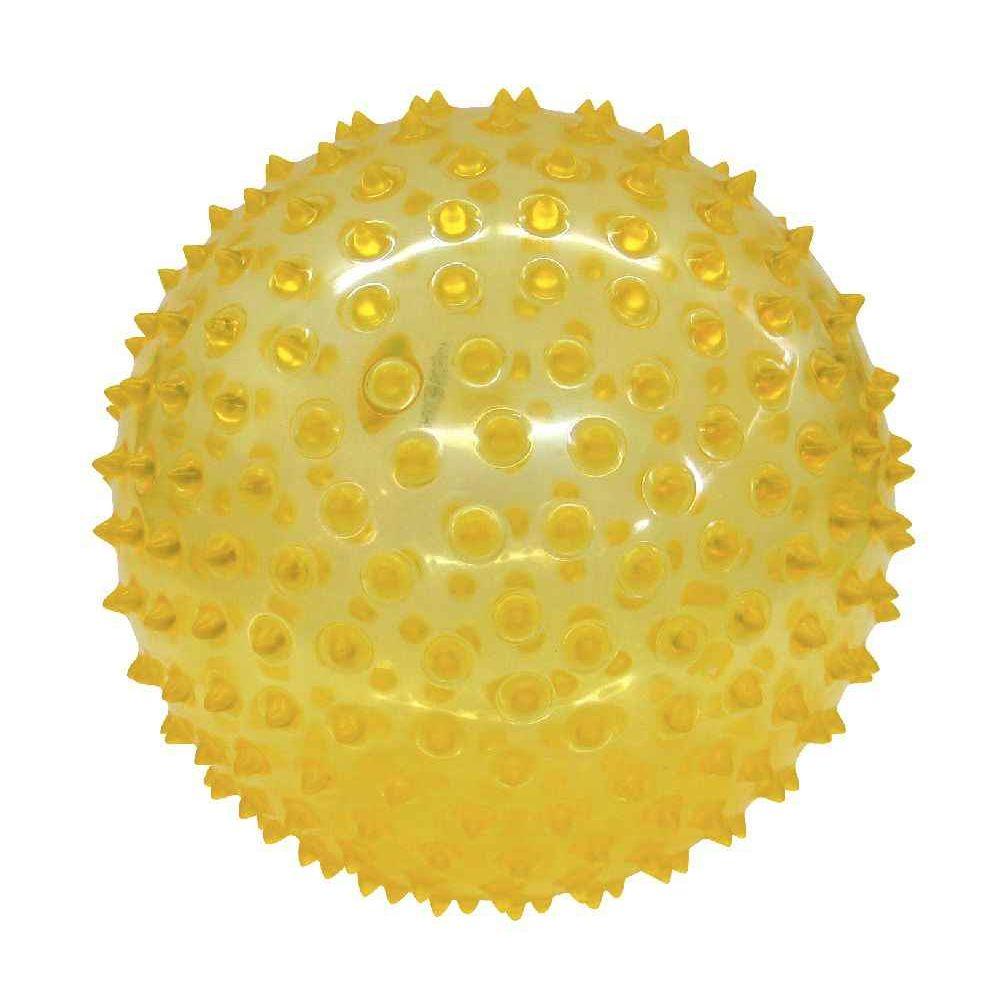 Balle sensorielle transparente diamètre 18cm en Pvc
