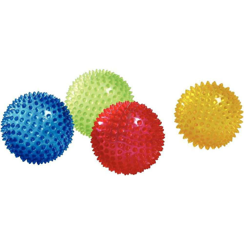 Balles sensorielles transparentes diamètre 10cm - Lot de 4