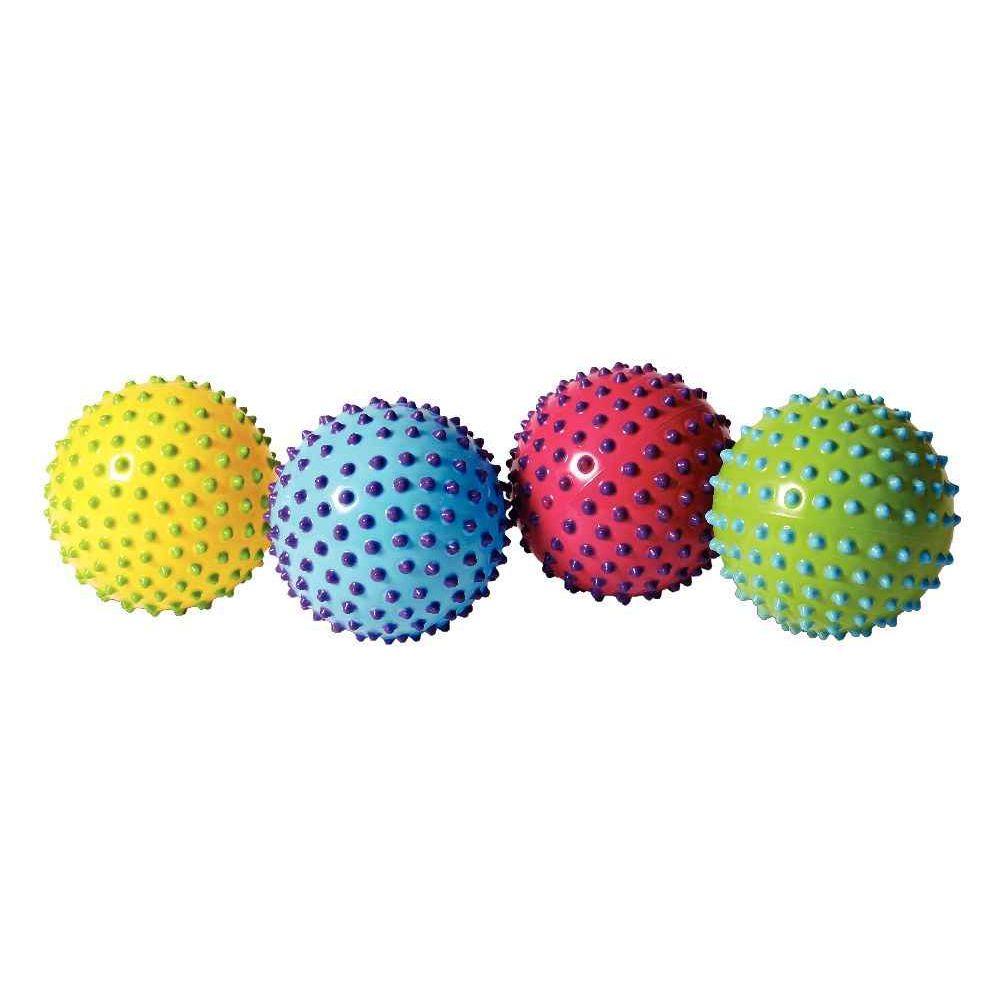 Balle sensorielle bicolore diamètre 18cm en Pvc