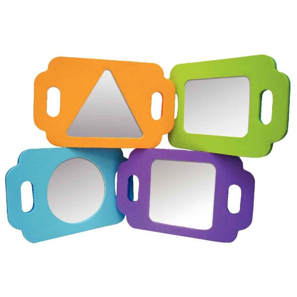 Miroir g om trique lot de 4 apprendre les formes et for Miroir geometrique