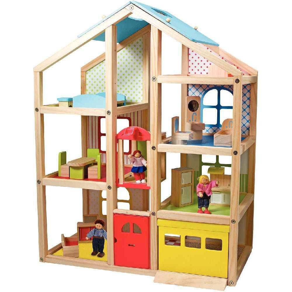 Maxi maison de poupées meublée, hauteur 76 cm
