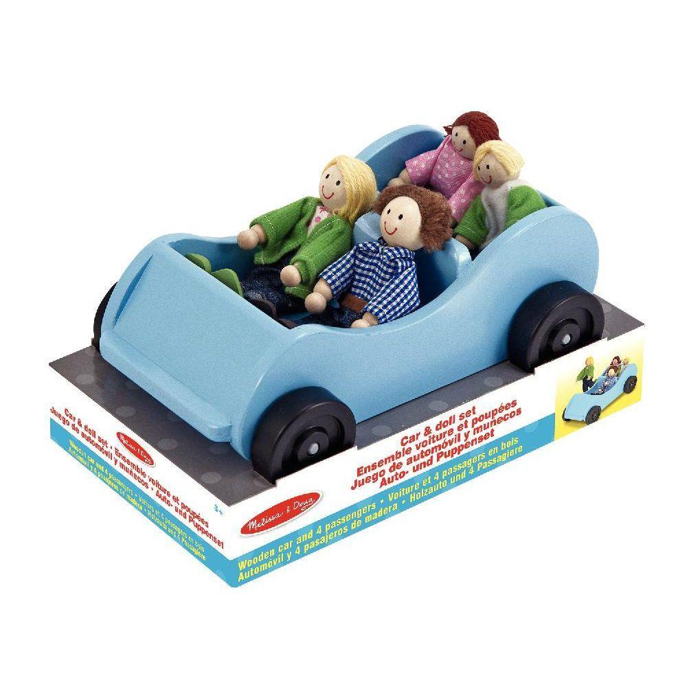 Voiture + 4 personnages pour la maison de poupées 28249