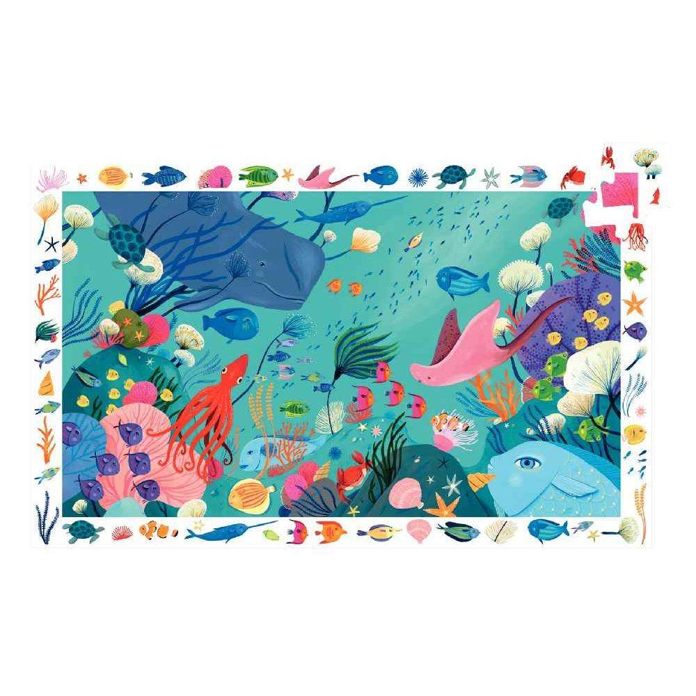 Djeco - Puzzle d'observation de 54 pièces sur le thème aquatique