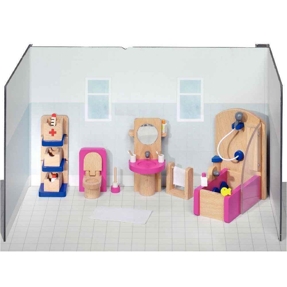 Salle de bain pour maison de poupées