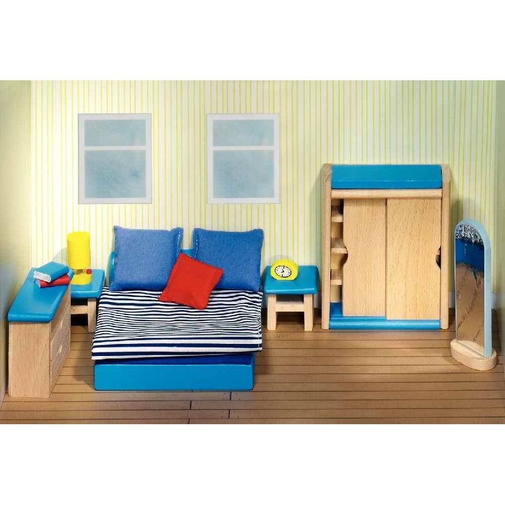 Chambre parentale pour maison de poupées