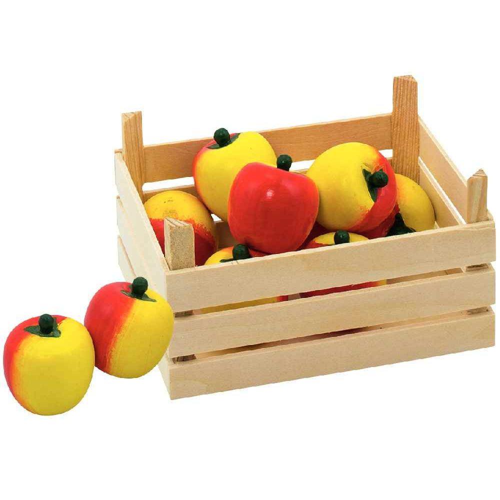 cagette de 10 pommes en bois en cuisine sur planet eveil. Black Bedroom Furniture Sets. Home Design Ideas