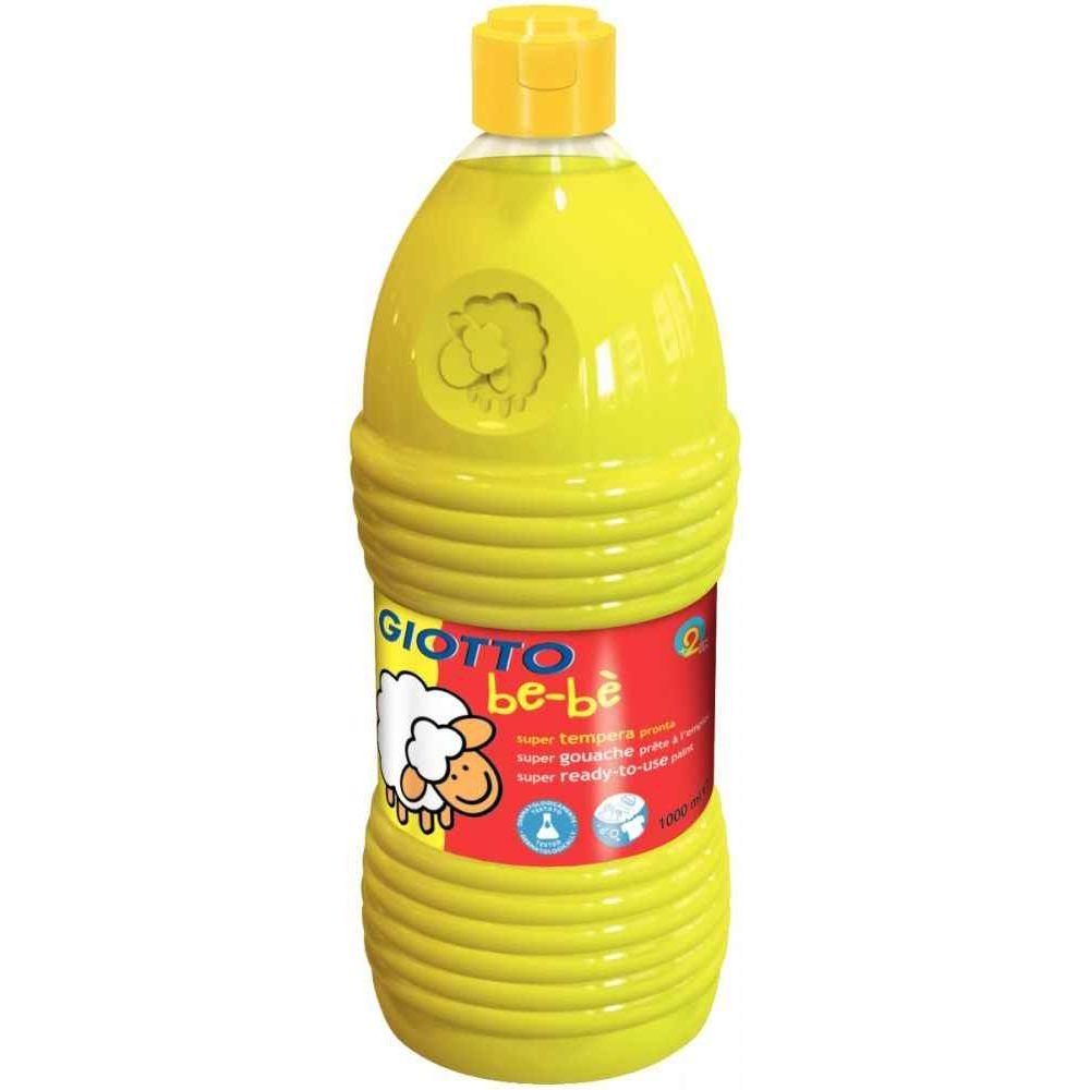 Gouache GIOTTO bébé, coloris Jaune - Flacon de 1 litre