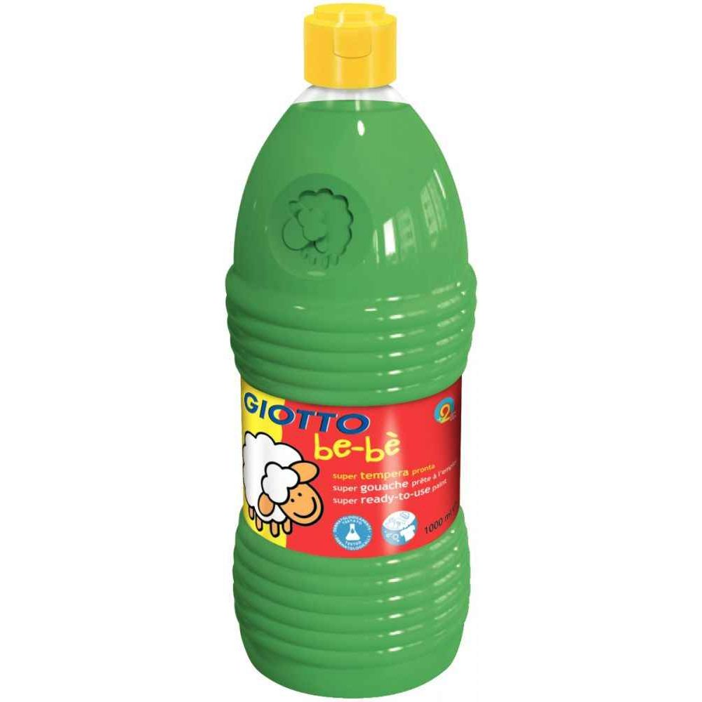 Gouache GIOTTO bébé, coloris Vert - Flacon de 1 Litre