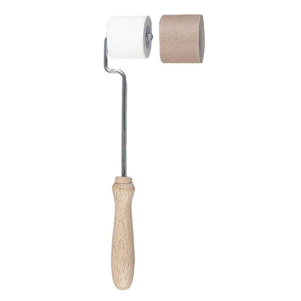 Rouleaux à peindre avec manches en bois, largeur du rouleau 30 mm - Lot de 10