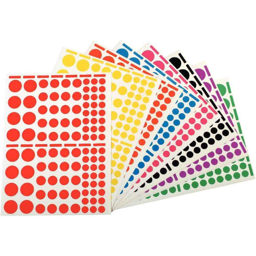 Agipa - Gommette adhésive format ronds assortis - Pochette de 1040