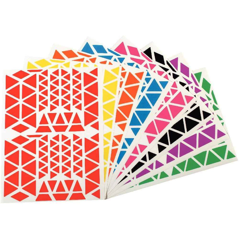 Agipa - Gommette adhésive format triangles assortis - Pochette de 1200