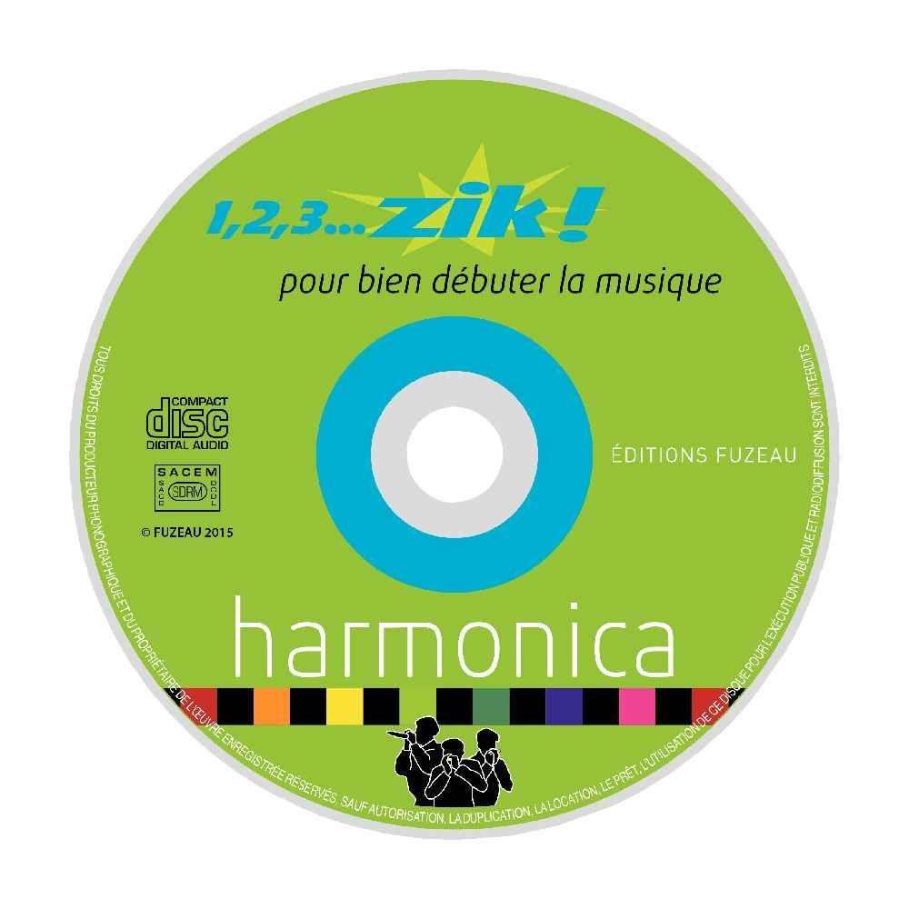 Harmonicas avec livret et un cd - Pochette de 2