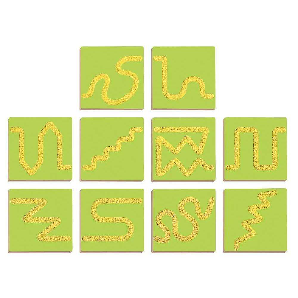 Plaque en bois puzzle sensitives - Carton de 10