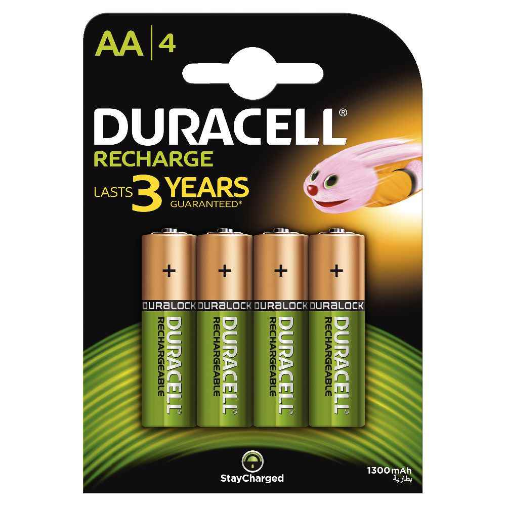 Accu DURACELL AA 1300A Plus Power - Blister de 4