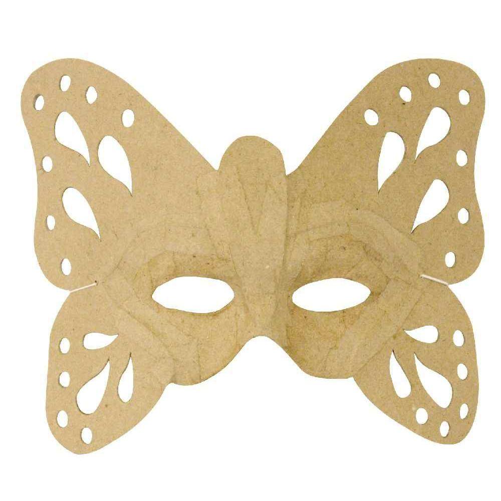Masques papillon en carton - Lot de 6