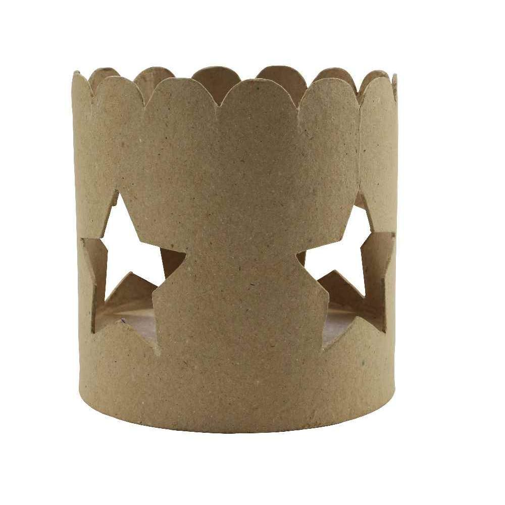 Bougeoirs en carton, diamètre 12 cm - Lot de 2