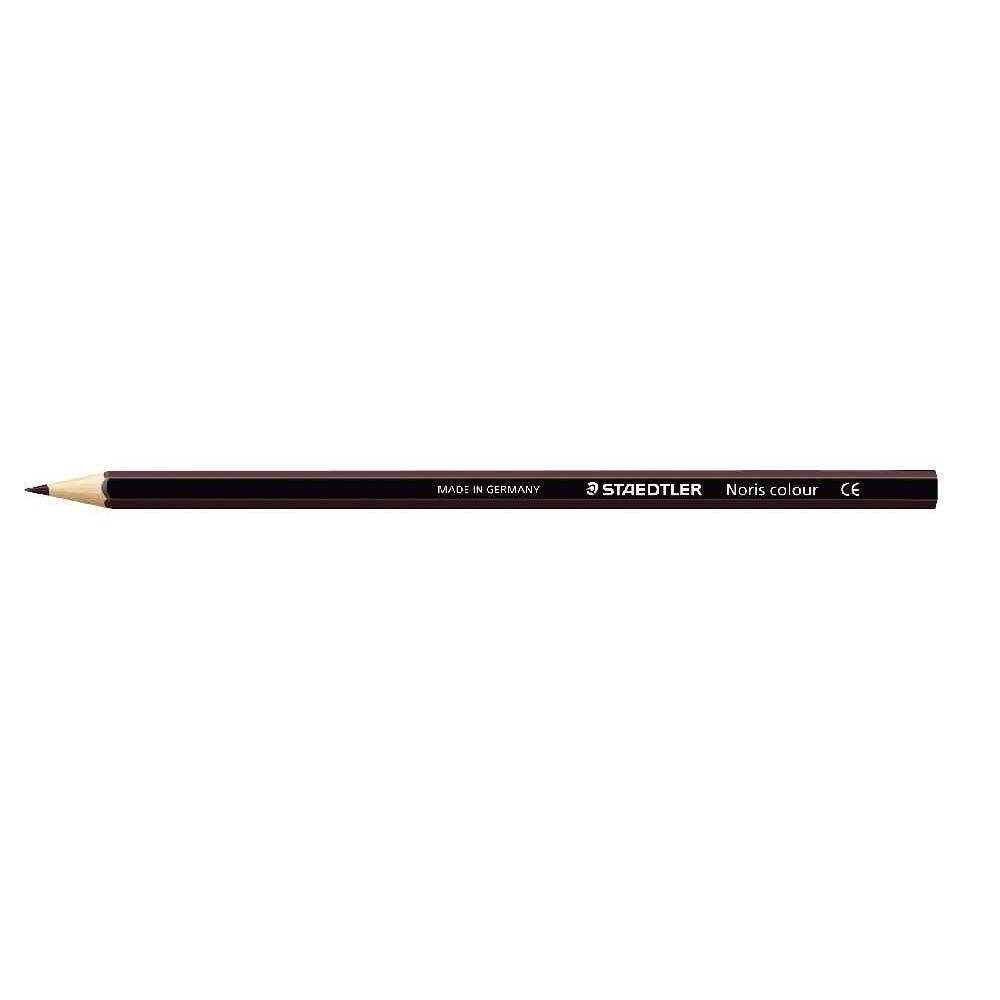 Crayons de couleur NORIS Colour marron - Etui de 12