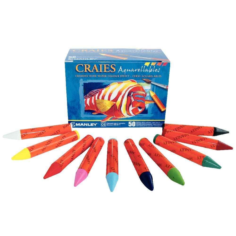 Pastels aquarellables - Boîte de 50