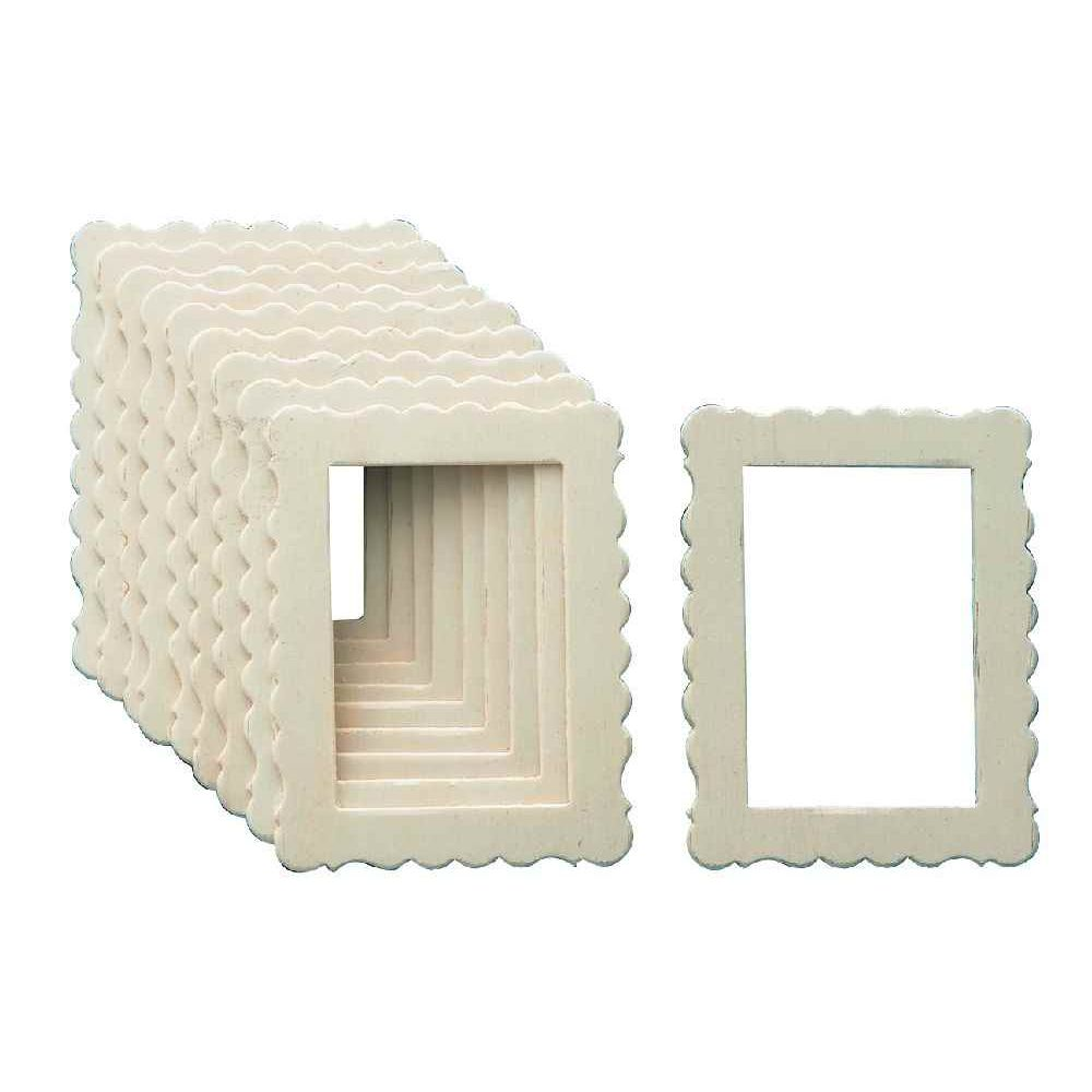cadres rectangulaires lot de 10 objets en bois sur. Black Bedroom Furniture Sets. Home Design Ideas