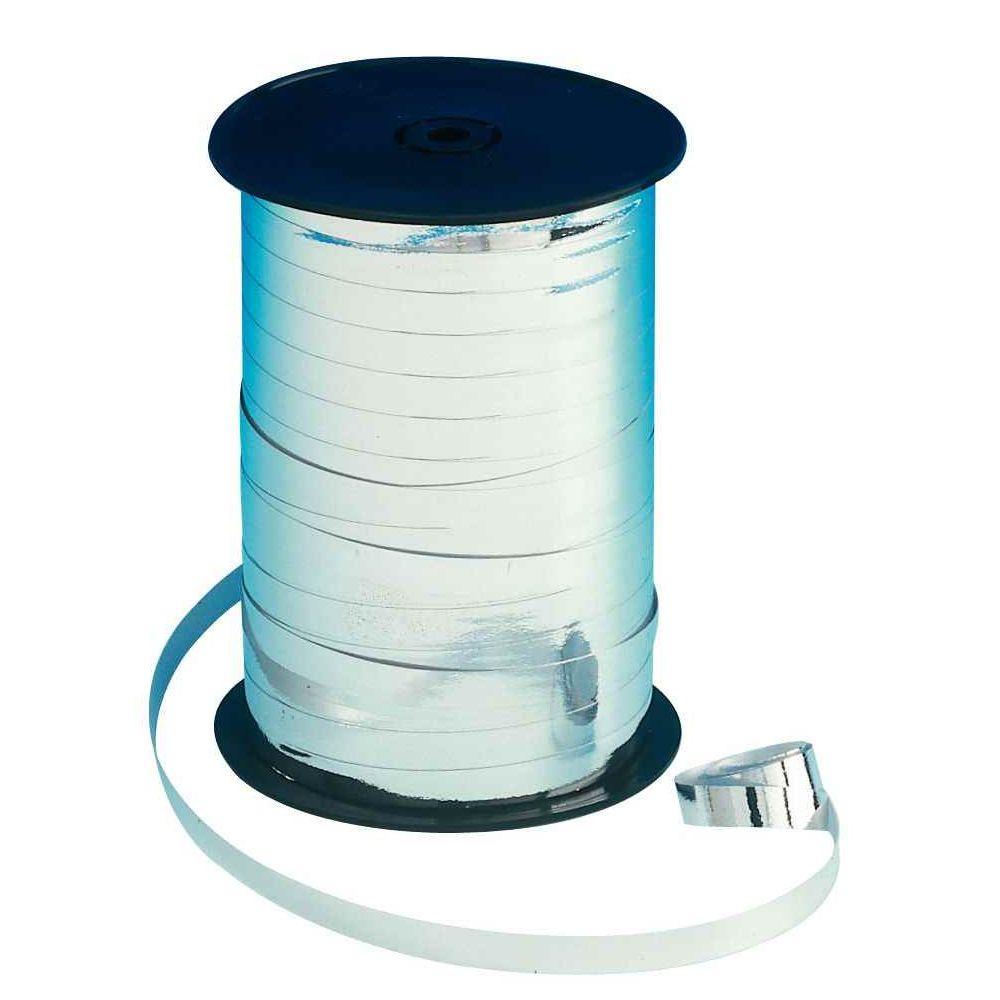 Bolduc lisse - 250mx7mm - Argent métallisé